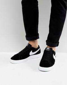 Низкие черные кроссовки Nike SB Blazer 878365-010 - Черный