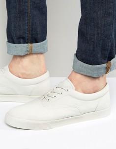Парусиновые кеды на шнуровке с прорезиненным носком ASOS - Светло-серый