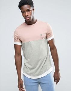 Длинная футболка со вставкой Le Breve - Розовый