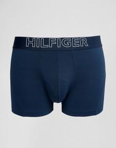 Темно-синие боксеры-брифы с логотипом Tommy Hilfiger - Темно-синий