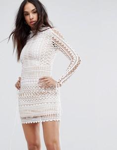 Кружевное облегающее платье мини Missguided - Белый