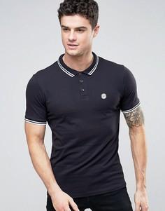 Узкая футболка-поло Le Breve - Темно-синий