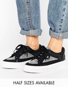Кроссовки на шнуровке ASOS DIARY - Черный