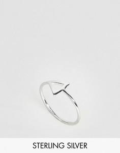 Серебряное кольцо на мизинец с треугольником ASOS - Серебряный