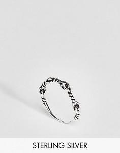 Серебряное витое кольцо ASOS - Серебряный