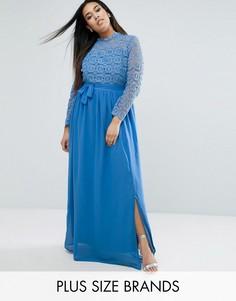 Платье макси с топом кроше Club L Plus - Синий