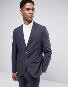 Узкий пиджак из льняной смеси Selected Homme - Темно-синий