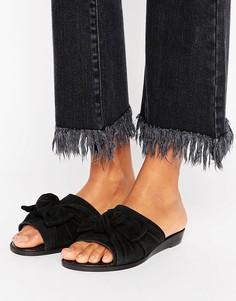Кожаные сандалии с большим бантом Park Lane - Черный