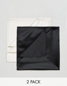 Набор из 2 платков для нагрудного кармана Devils Advocate - Черный