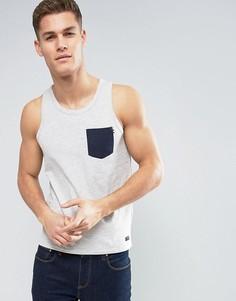 Майка с контрастным карманом Produkt - Белый