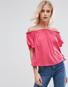 Топ с открытыми плечами New Look - Розовый