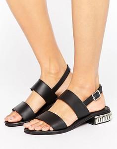 Кожаные сандалии с отделкой на каблуке Park Lane - Черный