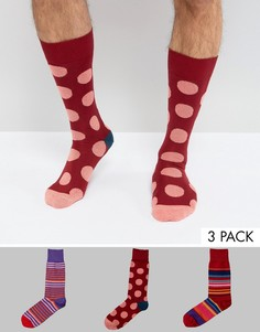 3 пары носков в горошек Paul Smith - Мульти