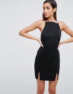 Платье мини с двумя разрезами ASOS - Серый