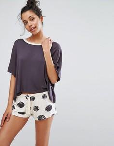 Пижамный комплект в горошек с шортами Chelsea Peers - Мульти