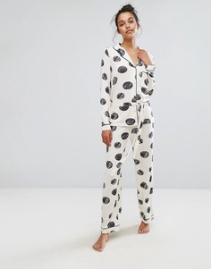 Пижамный комплект в горошек Chelsea Peers - Мульти