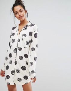 Ночная рубашка в горошек Chelsea Peers - Мульти