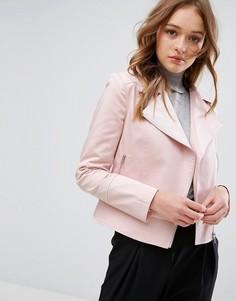 Пастельная байкерская куртка Helene Berman - Розовый