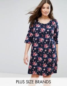 Платье-футболка с цветочным принтом Junarose - Мульти