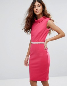 Розовое платье с высоким воротом Paper Dolls - Розовый