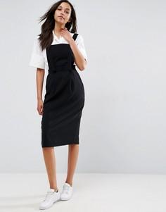 Прямая джинсовая юбка с D-образным кольцом ASOS - Черный