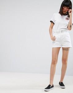 Белые джинсовые шорты с присборенным поясом ASOS - Белый