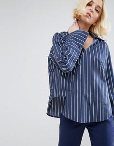 Рубашка-кимоно в полоску STYLENANDA - Темно-синий