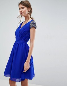 Платье для выпускного с открытой спиной Little Mistress - Синий