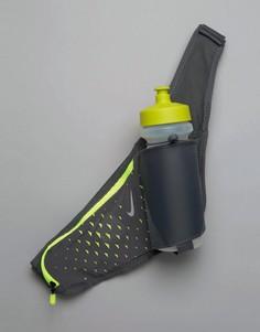 Ремень-держатель для бутылки объемом 22 унции Nike Running RL.90057A - Серый