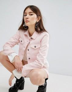 Укороченная розовая куртка с необработанным краем Dr Denim - Розовый