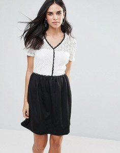 Платье 2-в-1 с контрастной отделкой Vero Moda - Мульти