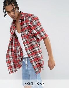 Красная фланелевая oversize-рубашка в клетку Reclaimed Vintage Inspired - Красный