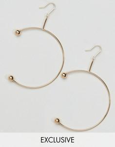 Серьги в виде незамкнутых колец Reclaimed Vintage - Золотой