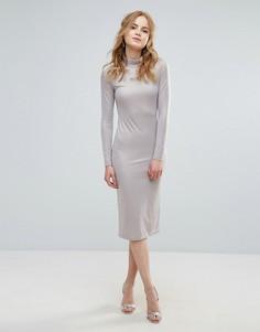 Платье с высокой горловиной Glamorous - Золотой