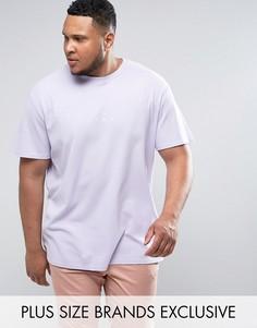 Фиолетовая oversize-футболка из вафельного трикотажа Puma PLUS эксклюзивно для ASOS - Фиолетовый