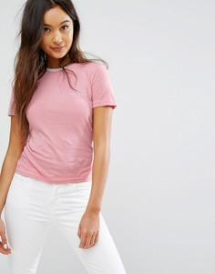 Розовая футболка с логотипом на груди Jack Wills - Розовый