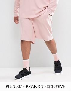 Розовые шорты из вафельного трикотажа Puma PLUS эксклюзивно для ASOS - Розовый