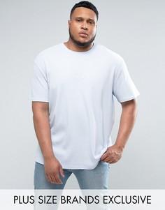 Синяя oversize-футболка из вафельного трикотажа Puma PLUS эксклюзивно для ASOS - Синий