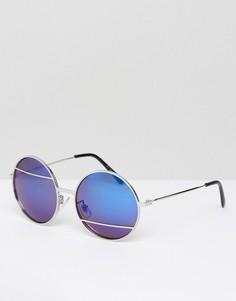 Солнцезащитные очки с синими стеклами Jeepers Peepers - Серебряный