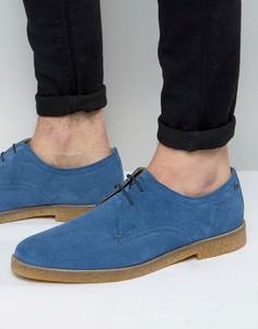 Замшевые туфли дерби Base London Whitlock - Синий