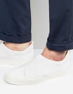 Белые кроссовки с перекрестными ремешками ASOS - Белый