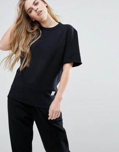 Черный свитшот с короткими рукавами Converse Premium Essentials - Черный