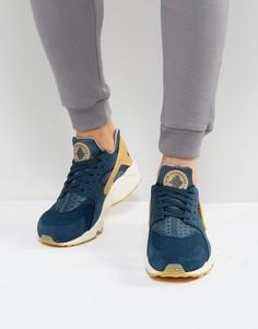 Синие премиум-кроссовки Nike Huarache Run 852628-401 - Синий