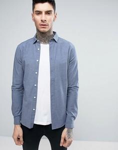 Джинсовая рубашка скинни из шамбре ASOS - Синий