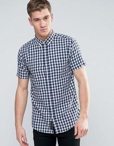 Рубашка в клетку с короткими рукавами Produkt - Белый