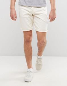 Джинсовые шорты слим Only & Sons - Белый
