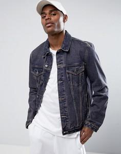 Синяя выбеленная джинсовая куртка ASOS - Красный