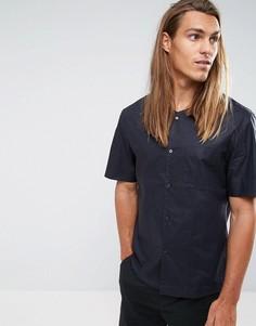 Рубашка классического кроя без воротника с короткими рукавами Kiomi - Темно-синий