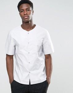 Рубашка классического кроя без воротника с короткими рукавами Kiomi - Серый
