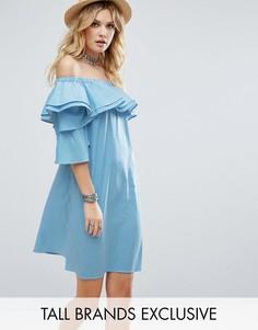 Платье мини с оборками White Cove Tall - Мульти